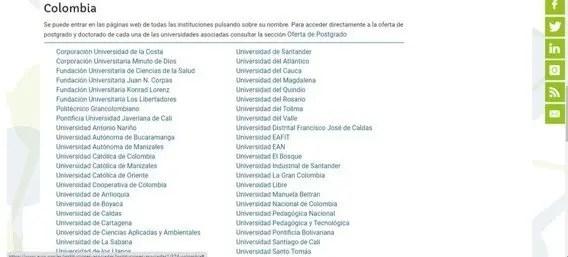 universidades colombianas asociadas a la auip
