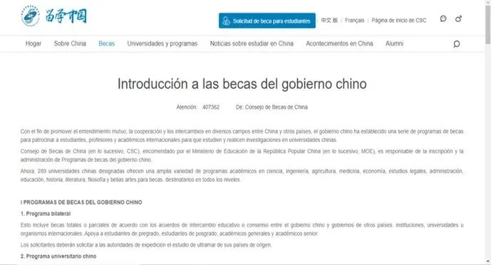 encontrar becas para estudiar en china