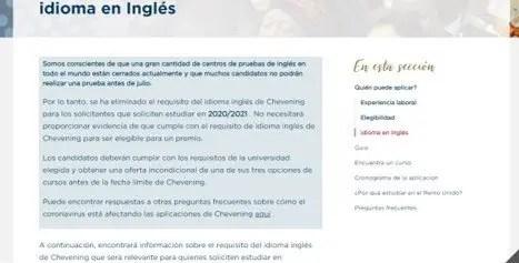 información detallada acerca del requisito de idioma inglés para estudiar en reino unido