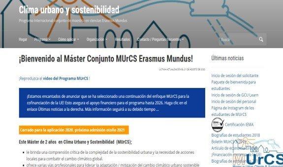 obtener información de un programa de master para aplicar a las becas erasmus mundus