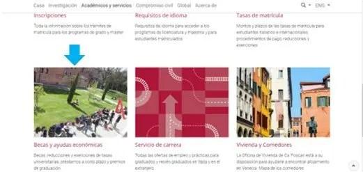 encontrar información de becas en universidades italianas