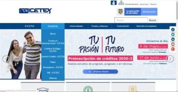 pagina oficial icetex