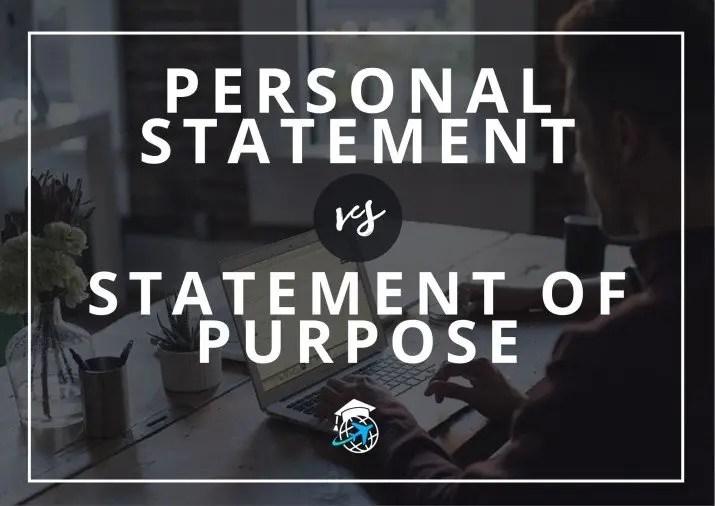 Personal Statement vs Statement of Purpose