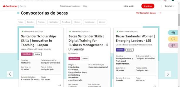 Cómo crear una cuenta para aplicar a las becas Santander