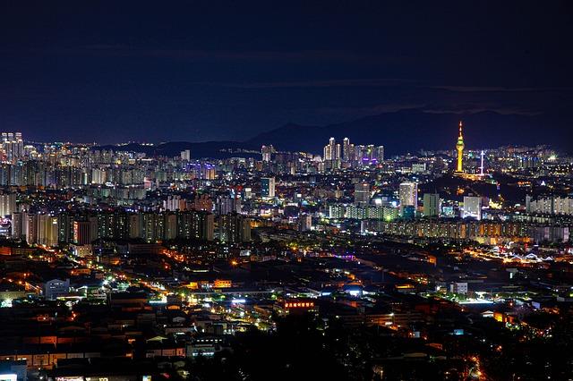 Corea del Sur de noche
