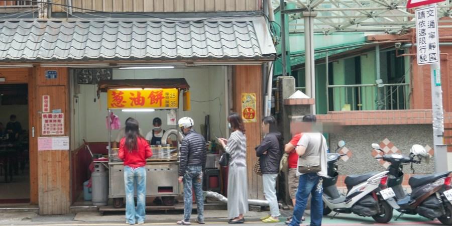 [桃園美食]東門國小.蔥油餅|排隊銅板美食下午茶~店內僅賣一種小吃 @VIVIYU小世界