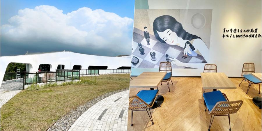 [龜山美食]黑水咖啡廳|文青水園水資源回收中心~白色歐風建築.景觀水道.休閒好地方 @VIVIYU小世界