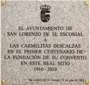 Placa conmemorativa del centenario de su fundación