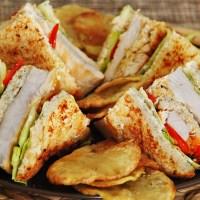 Club sandwich του Καίσαρα χωρίς γλουτένη