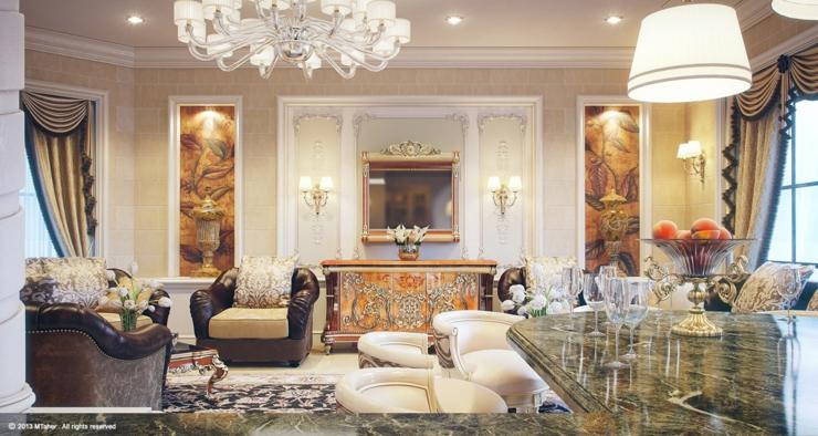 Villa De Luxe Au Design Dintrieur Oriental Au Qatar
