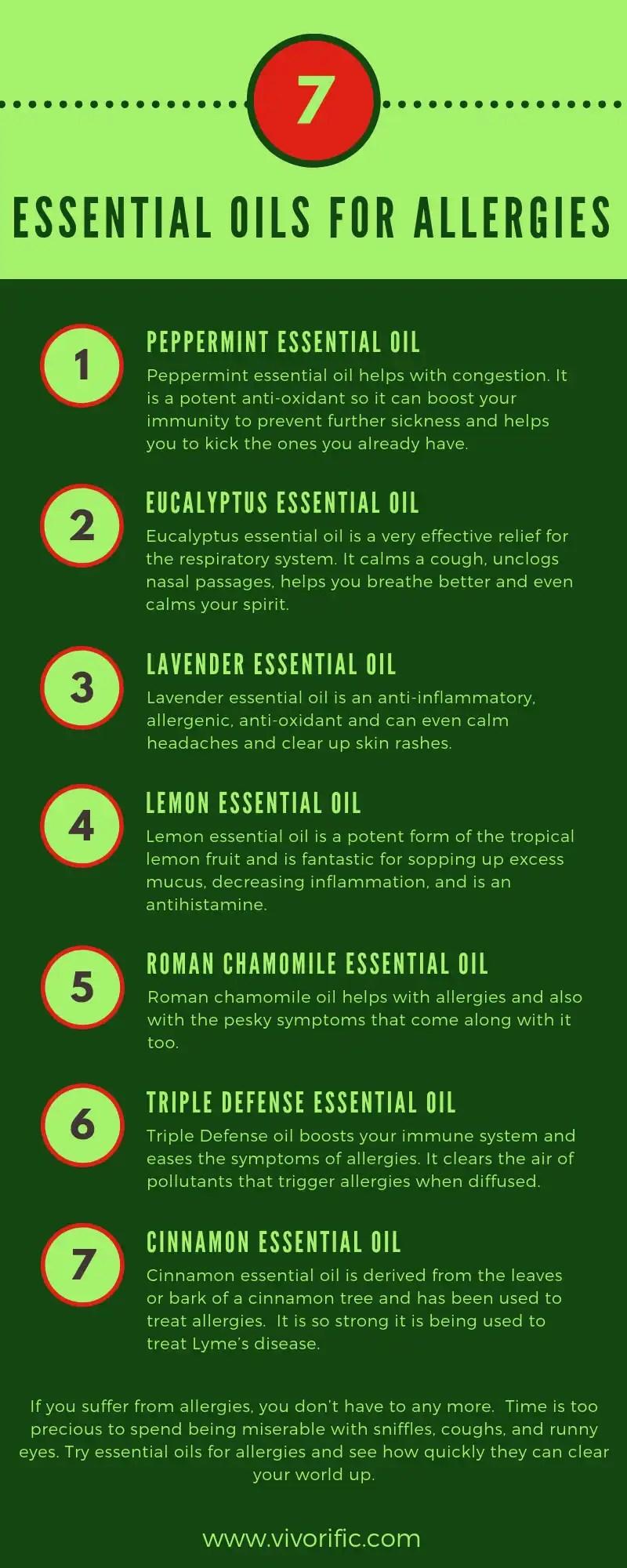 essential oils for allergies - vivorific health
