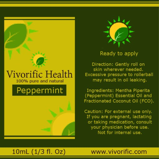Peppermint Essential Oil Roll On - Vivorific Health-