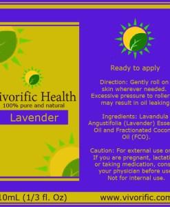 Lavender Essential Oil Roll-On-Vivorific Health