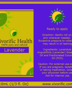 Lavender Essential Oil Roll-On-Vivorific Health