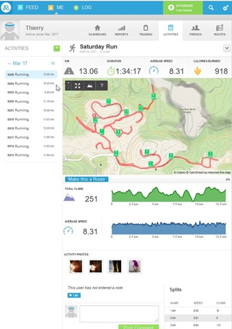 Runkeeper- Activities