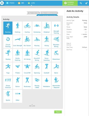 Runkeeper- Add activity