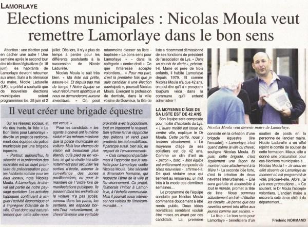 Article du 7 juin 2017 paru dans Oise Hebdo