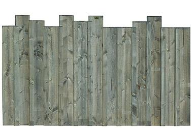 des panneaux bois sur un muret