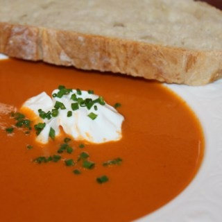 Oven Roasted Tomato Bisque Soup