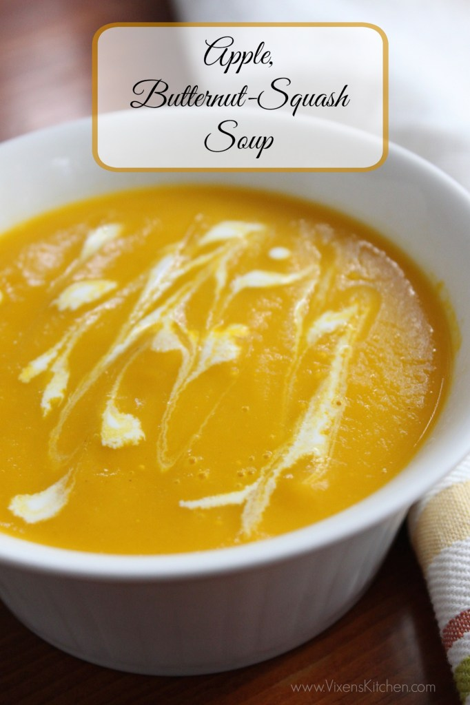 Super healthy and delicious! The best butternut squash soup I've ever had!!! And with apples... the sweetness is so amazing! | www.vixenskitchen.com