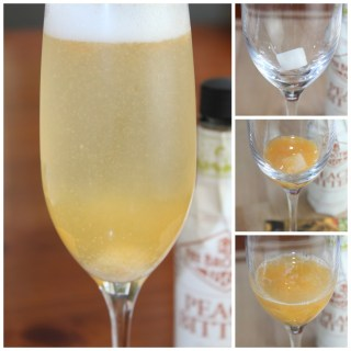 Triple Peach Champagne Cocktail - www.vixenskitchen.com
