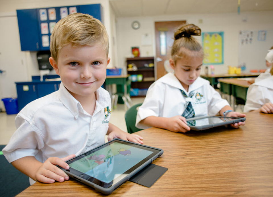 Schools equipped with technology
