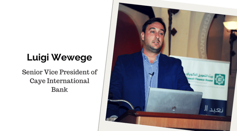 Luigi Wewege, Senior Vice President of Caye International Bank
