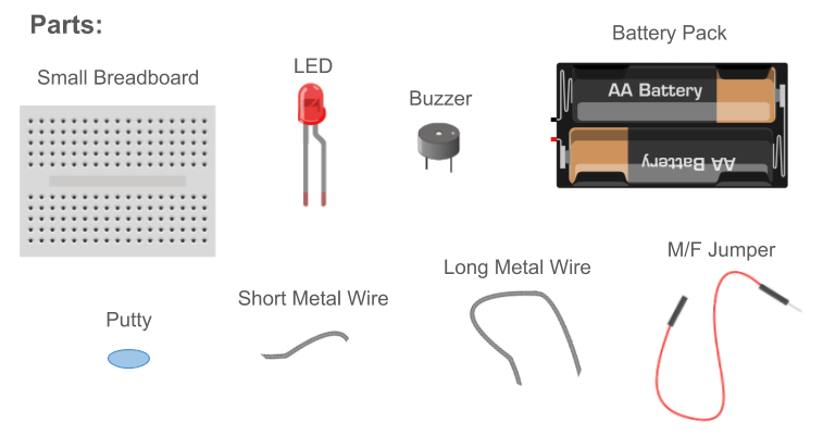 buzz wire parts