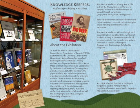 Aboriginal Research Resources - Trifold Brochure - Inside - 2012