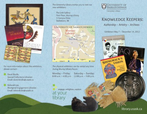 Aboriginal Research Resources - Trifold Brochure - Outside - 2012