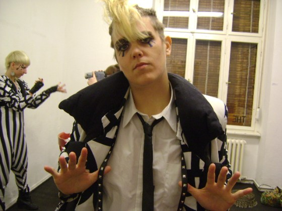 Cindy Wonderful with killah suspenders