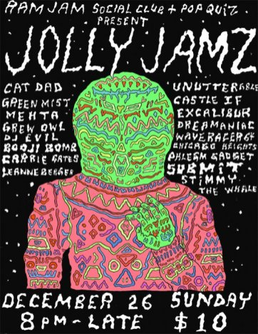 Jolly Jams - Boxing Day 2010 poster by Jon Vaughn