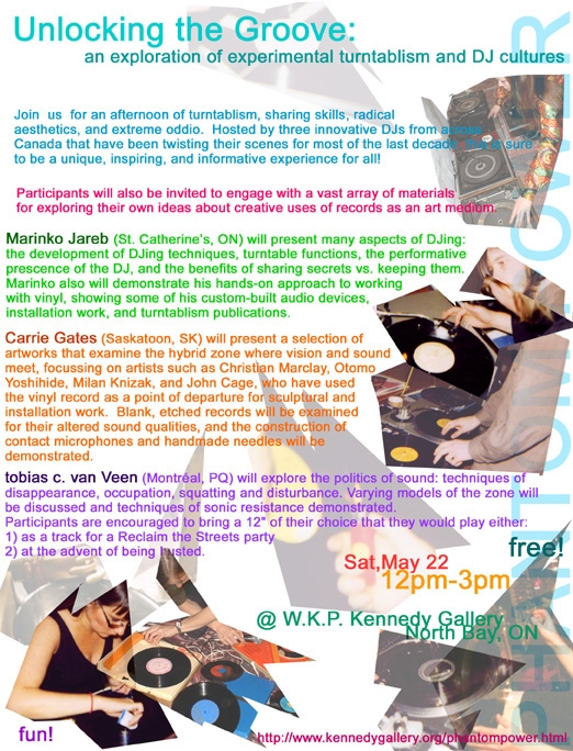 Unlocking the Groove Workshop Flyer from DIGIDOME Event by PAVED Arts in 2002 - Design by Carrie Gates