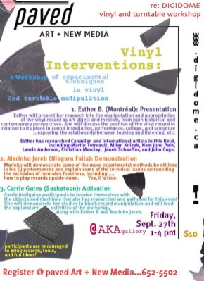 Vinyl Interventions Workshop - Digidome, 2002