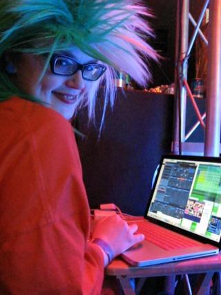 Carrie Gates VJing at ANTI-GRAVITY Rave in Saskatoon in 2011