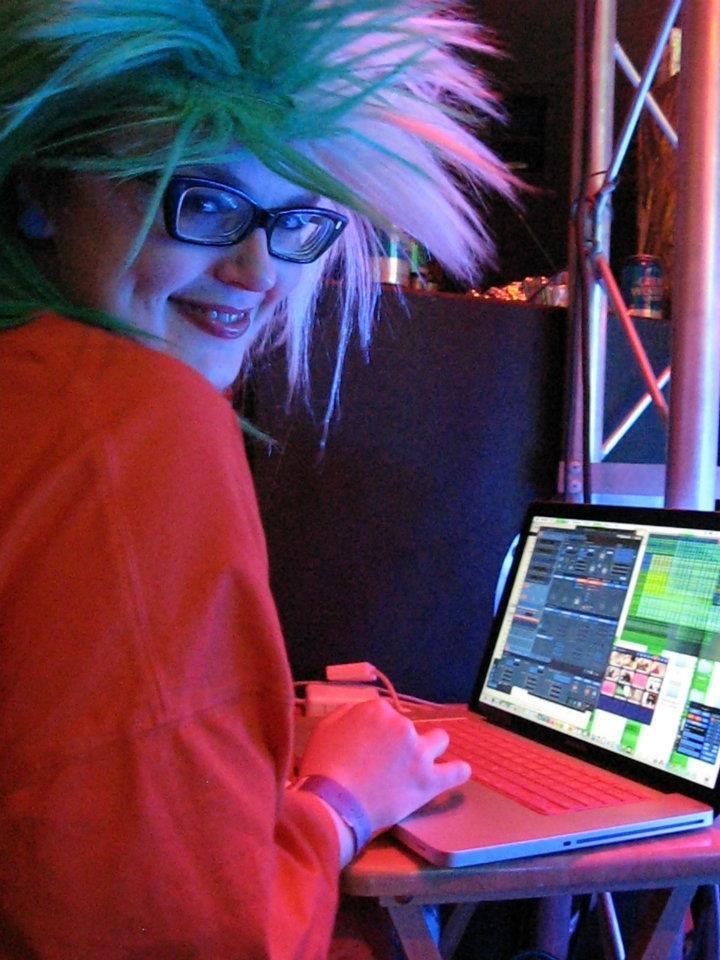 Carrie Gates VJing at ANTI-GRAVITY