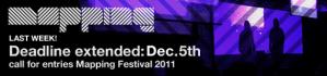 Mapping Festival 2011 - Deadline Extended