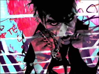 Cindy Wonderful video still by VJ Carrie Gates