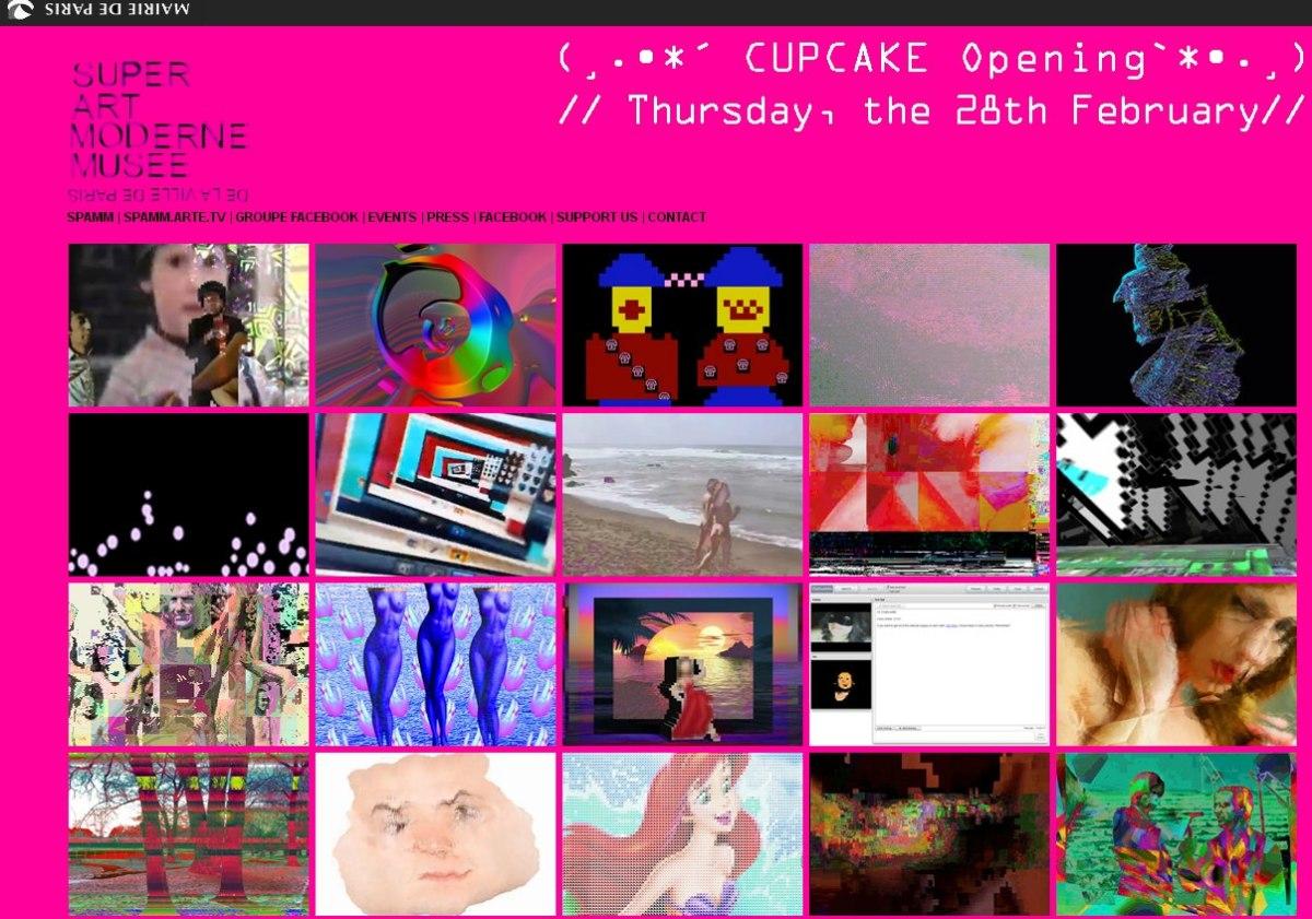 SPAMM CUPCAKE online exhibition homepage