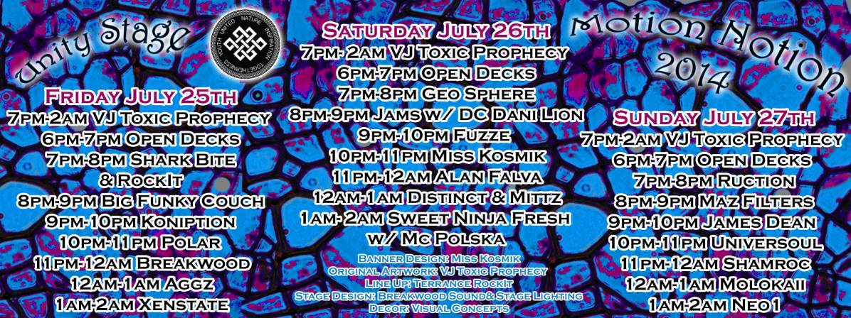 Motion Notion Festival 2014 - Official Schedule for the Unity Stage