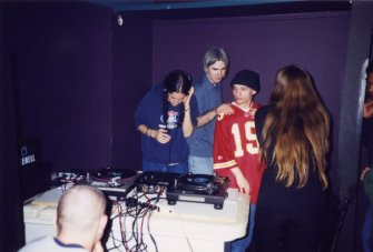 Carrie Gates Birthday Party in 1997 with DJ Ami-Lou, MC Epic, and Kelly from Isosceles