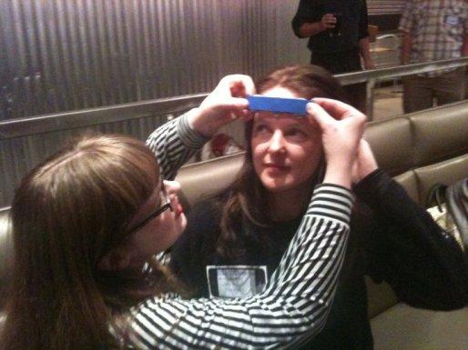 Carrie Gates - Brainwave Art Demonstration at Barcamp 2010 - Photo by Janice Poniatowski
