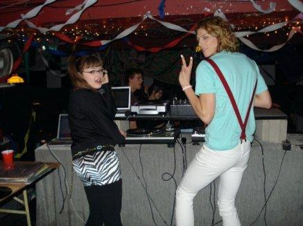 DJ Carrie Gates / Lady Gates with Ryan Wonsiak - Dance Dance Revolution 2008. Photo by Shavonne Somvong.