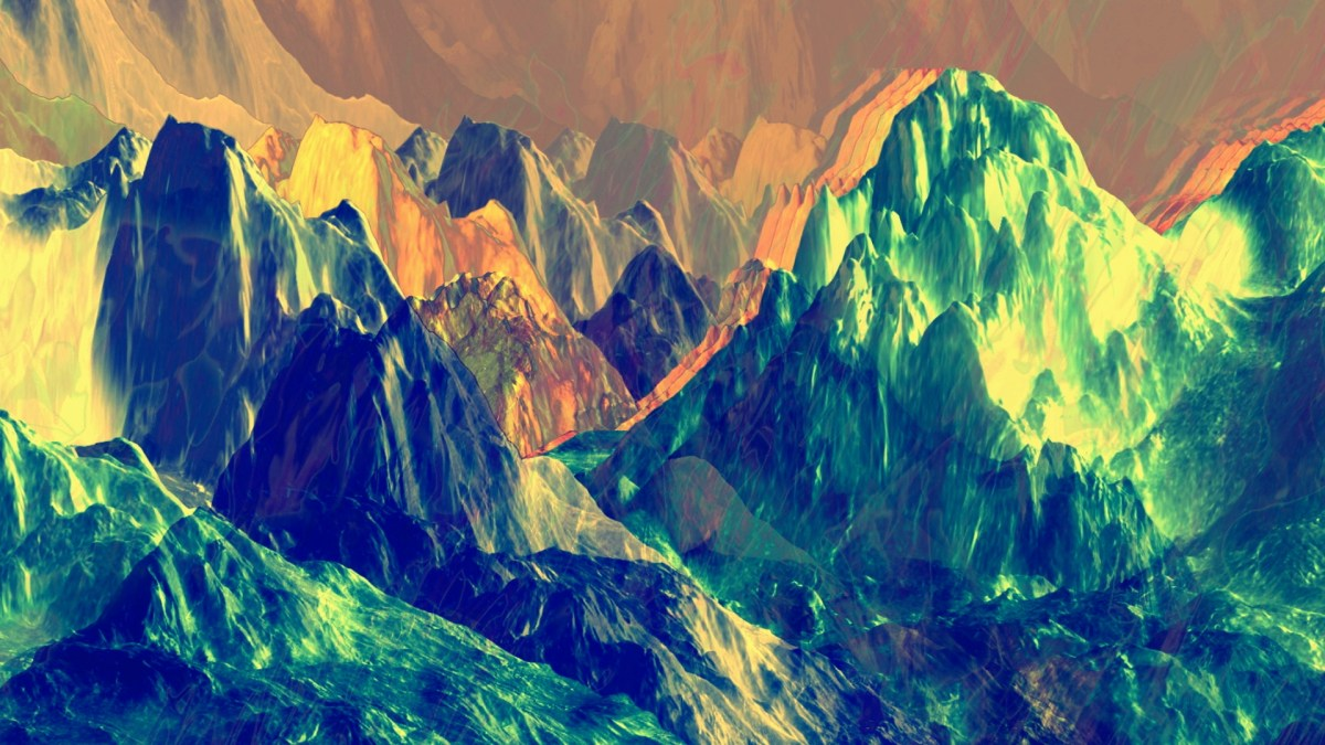 Mountain Glitchery - Silent VJ Clip Video Still by Carrie Gates