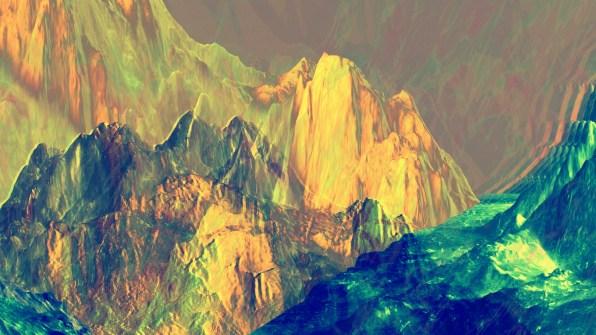 Mountain Glitchery - Silent VJ Clip Video Still by Carrie Gates