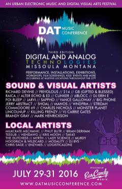 DAT Electronic Music Conference 2016 - Main Poster