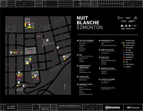 Nuit Blanche Edmonton 2018 Map