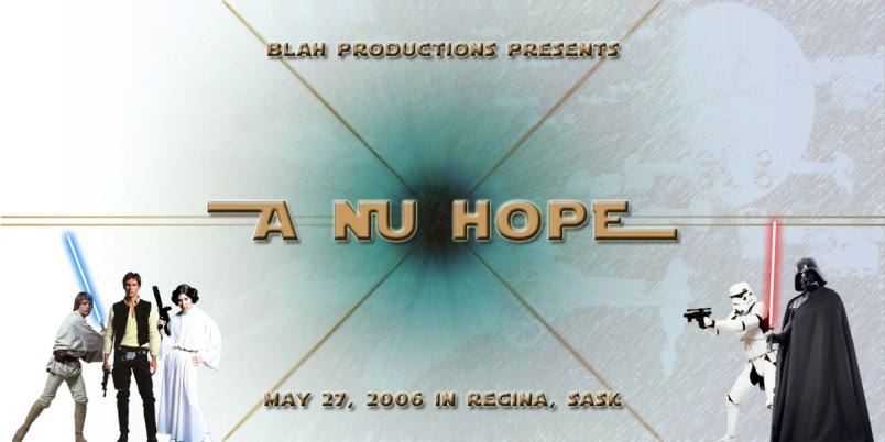 A NU HOPE - Flyer for Regina Rave 2006
