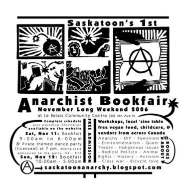 Saskatoon Anarchist Book Fair Flyer 2006