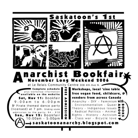 Saskatoon Anarchist Book Fair Flyer 2006